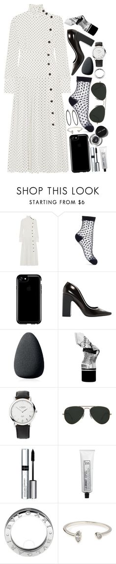 """""""Seeing Spots"""" by cherieaustin ❤ liked on Polyvore featuring Alessandra Rich, Miss Selfridge, Speck, Fabrizio Viti, Christian Dior, Aesop, Links of London, Ray-Ban, Bobbi Brown Cosmetics and By Terry"""
