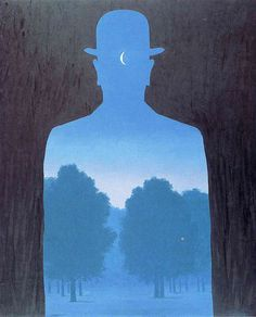 René Magritte #Rene_Magritte A Friend of Order, Reminds me of Chauncey Gardener from Being There!