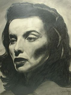 """Portrait Owned by KATHARINE HEPBURN Bill """"Red"""" Brower Singing from chrismelendez on Ruby Lane"""