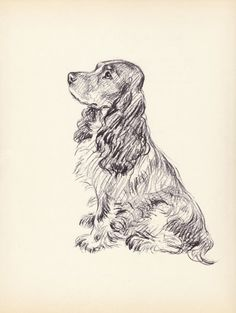 Antique Dog Print, by Lucy Dawson, 1930