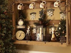 huge shadow box made from old pallets