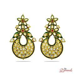 Polki Earrings Modesta at Djewels.org. <br /><br />PRICE  AND  OTHER  DETAILS  ON  DEMAND [Rs    0]