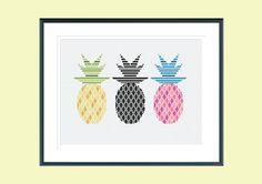Modern cross stitch pattern electric pineapples by SpruceXstitch Pineapple Ideas, Pineapple Art, Pixel Pattern, Free Pattern, Cross Stitch Tutorial, Modern Cross Stitch Patterns, Crossstitch, Cross Stitching, Color Patterns