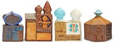 "Bertil Vallien Ceramics - Gustavsberg ""Bagdad"" sculptures detail"