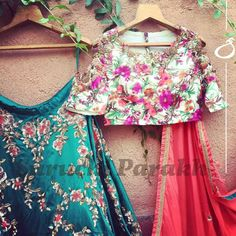 Never ending love for details! Gorgeous and intricate handwork teamed with mesmersing colors! A fresh look for those who love florals!  05 July 2017