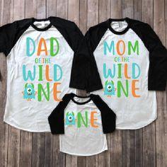 1be33dece Monster birthday shirt, monster birthday party, 1st birthday shirt, first  birthday shirt, mom of birthday, dad of birthday , matching family