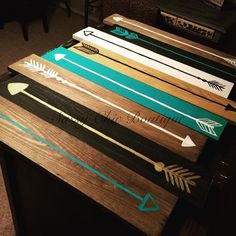 Home x 36 Handmade Wooden Pallet Art with Turquoise Arrows (Customizable Colors)-Sassy Chic Boutique Wooden Pallet Crafts, Wood Pallet Art, Diy Pallet Projects, Wooden Pallets, Wood Crafts, Wood Projects, Pallet Ideas, Pallet Benches, Pallet Walls