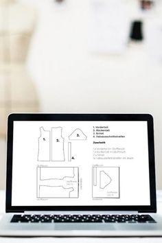 Schnittmuster ganz einfach übersetzen Tips & Tricks, Sewing Hacks, Sewing Tips, Pattern Making, Free Pattern, Sewing Patterns, Diagram, How To Make, Inspiration