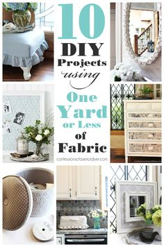 10 DIY Projects Using a Yard or Less of Fabric