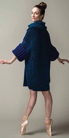 Irish lace, crochet, crochet patterns, clothing and decorations for the house, crocheted. Knitwear Fashion, Knit Fashion, American Ballet Theatre, Ballet Theater, Julie Kent, Fashion Design Classes, Fashion Designers, Thick Sweaters, Knitted Coat