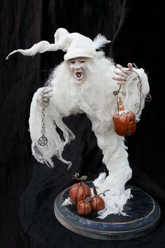 Ghostly Gerty OOAK Ghost Witch Sculpted by HollysHauntedCottage, $89.00