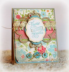 Sneak peek card by Amy Sheffer using stamps and dies releasing 8/24 from Verve Stamps.
