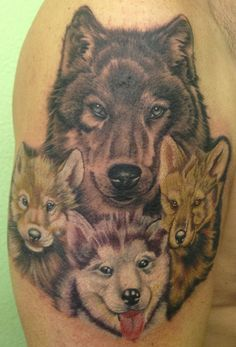 Yeah, that's me, mama wolf with her babies, Jenna, Ryan and Seth.  I love it!