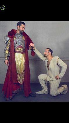 Florent Mothe et Yamin Dib (le Roi Arthur et Ké) - La Légende Du Roi Arthur