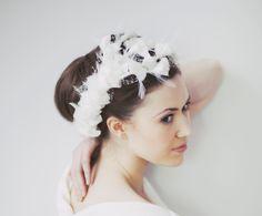Blossom, £355.00 #wedding #bridal #accessories #vintage #bride #headwear #fascinator www.hopeandgrace.co.uk Bridal Headdress, Bridal Accessories, Fascinator, Wedding Hairstyles, Hair Ideas, Delivery, Wedding Hairsyles, Wedding Updo Hairstyles, Bridal Hairstyle
