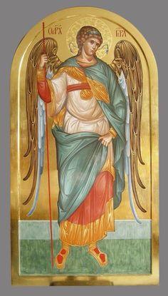 Byzantine Art, Byzantine Icons, Religious Icons, Religious Art, Order Of Angels, Christian Religions, Russian Icons, Guardian Angels, Angels And Demons