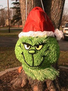 make grinch pinata - Google Search