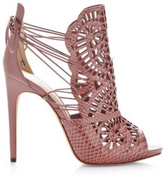 Alexandre Birman Cut-Out Python Sandals Sunset Quartzo / Quart on shopstyle.com