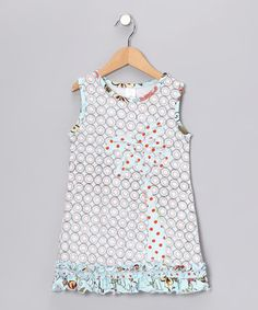 Take a look at this Aqua Palm Tree Dress - Infant, Toddler & Girls by Beehave on #zulily today!