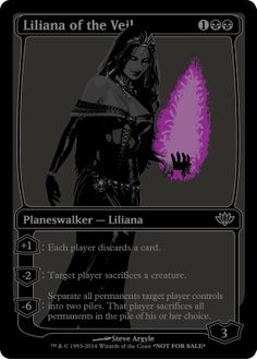blacked out planeswalkers. mtg. magic the gathering.