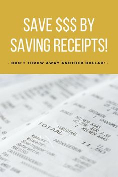 Money Receipts Don't Even Think About Shopping Online Without Doing This First .