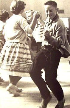 Doing the Lindy Hop and look at that guy, she's just rocking! c.1950s ~