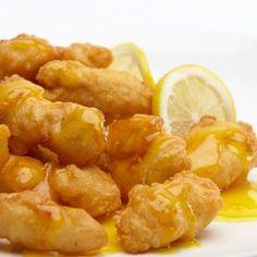 Lemon chicken Recipe  Serves 4 Ingredients: 1/2 cup cornstarch  3/4 cup water  2 egg yolks  2lbs (aprx 4)      skinless, boneless chicken b...