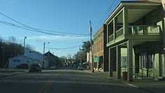 West Main Street, the village's business district