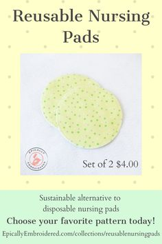 These soft flannel reusable nursing pads are a sustainable alternative to expensive and uncomfortable disposable nursing pads. Our customers also love to use them as coasters, to clean and polish furniture and more! #reusablenursingpads #babyshowergifts #babyshowergiftideas #sustainableliving #ecofriendly