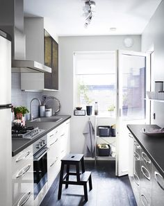 1000 images about cocinas on pinterest kitchens narrow - Soluciones para cocinas pequenas ...