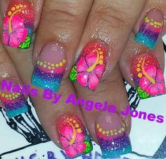 Nail art design ideas | nail art for summer | for short nails | #nailart | Acrylic nails by Angela Jones