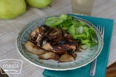 Pear and Mushroom Balsamic Chicken