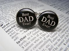 Best Dad Ever Cufflinks  These cuff links are a by UpscaleTrendz, $39.00