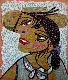 Mosaic art / cubism style mosaic / mustard by LaTenagliaImpazzita