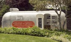 Trailer converted into a business - The Creative Capsule | a mobile crafting and party space housed in a vintage Airstream trailer