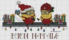 Minions Christmas pattern
