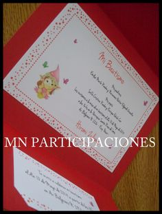 Invitaciones en Sobre Tríptico.