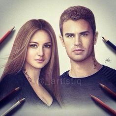 Tobias and Tris. Drawing. *heavy breathing*