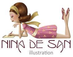 * Nina de San *love the flip hair-do! Creation Photo, Holly Hobbie, Animation, Clipart Images, Illustrations, Illuminated Manuscript, Scrapbook Albums, Love And Light, Drawing S