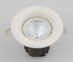 2700-5000k adjustable anti-glare cob led downlight round 12w recessed cob led down lights aluminum housing cob ceiling light