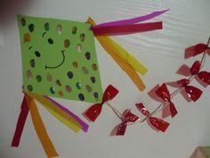 Maro's kindergarten: Kite craft  #kitecrafts #weathercrafts
