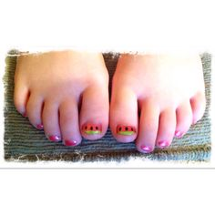 My baby girl's watermelon toes :)