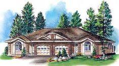 Ranch Multi-Family Plan 58770 Elevation