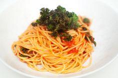 vegansk pasta med grønnkål oppskrift