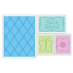 This set of Embossing Folders showcases the fanciful style of Ellison die artist Rachael Bright. It contains one large folder, measuring 5 3...A 2 Argyle