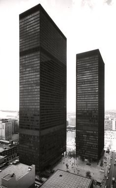 """The Toronto-Dominion Centre 50 years later: """"God is in the details"""" Now Magazine, Google Images, Toronto, Skyscraper, Centre, Architecture, Towers, World, Chicago"""