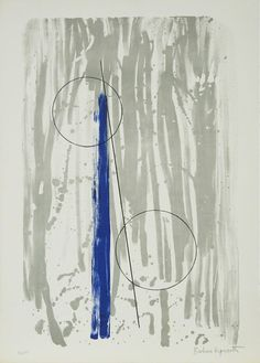 Barbara Hepworth, 'Two Marble Forms (Mykonos)', 1969 Colour lithograph on handmade Barcham Green paper Modern Sculpture, Abstract Sculpture, Sculpture Art, Metal Sculptures, Bronze Sculpture, Barbara Hepworth, Abstract Shapes, Abstract Art, Abstract Paintings