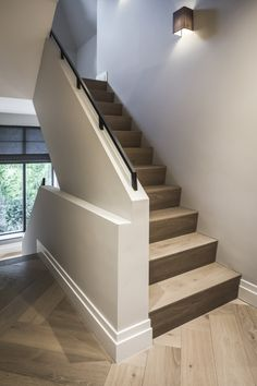 Ideas flooring farmhouse stairs Best Picture For Stairs landing For Your Taste You are looking for something, and it is going to tell you exactly what you are looking for, and Farmhouse Stairs, Farmhouse Flooring, Basement Stairs, Boutique Homes, Staircase Design, Classic House, House Goals, Stairways, My Dream Home