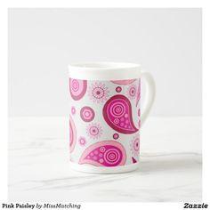Pink Paisley Tea Cup