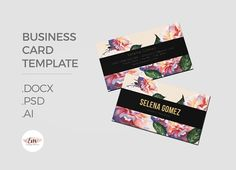 Elegant floral Business Card by Emaholic Templates on @creativemarket